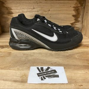 Nike air max torch 3 black silver running sneakers